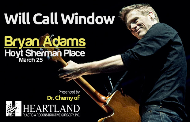 Bryan Adams Will Call Window