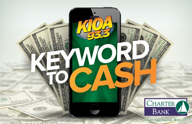 Keyword to Cash Presented by Charter Bank